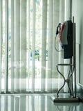 Telefone vermelho do pubilc Fotografia de Stock