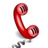 Telefone vermelho retro Ilustração do Vetor