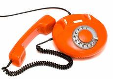 Telefone vermelho velho Fotografia de Stock Royalty Free