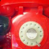 Telefone vermelho velho Fotografia de Stock