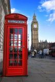 Telefoneer doos en de Big Ben Stock Foto