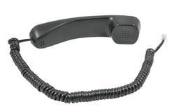 Telefonempfänger und -netzkabel lizenzfreies stockbild