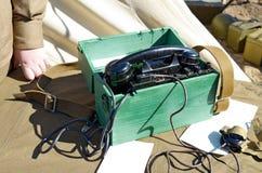 Telefonen är i armén Fotografering för Bildbyråer
