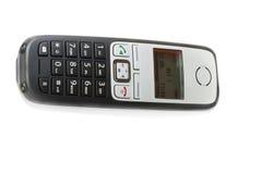 Telefonen på vit bakgrund Fotografering för Bildbyråer