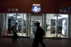 Telefonen 4u shoppar UK Royaltyfria Foton
