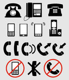 telefoner Arkivfoton