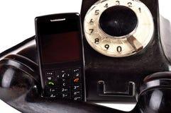 telefoner i dag igår Royaltyfri Bild