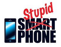 Telefoner kan vara smart, men folkaren't Royaltyfri Foto