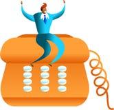 Telefonerfolg Stockfoto