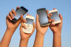 Telefones Foto de Stock Royalty Free