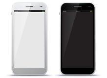Telefones celulares preto e branco Fotos de Stock Royalty Free
