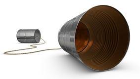 Telefones da lata de estanho Imagens de Stock Royalty Free