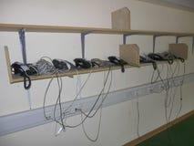 Telefones da reforma do escritório Fotografia de Stock Royalty Free