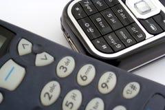 Telefones de pilha Imagens de Stock