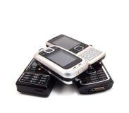 Telefones de pilha Fotografia de Stock Royalty Free