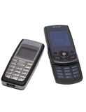 Telefones de pilha. Foto de Stock