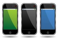 Telefones de pilha modernos ilustração royalty free