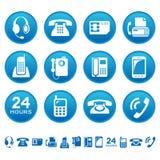 Telefones e ícones do fax Fotos de Stock