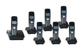 Telefones em um fundo branco Foto de Stock Royalty Free