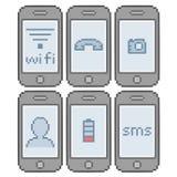 Telefones espertos da arte do pixel Fotos de Stock