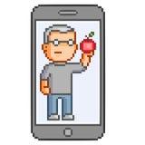 Telefones espertos da arte do pixel do vetor Foto de Stock Royalty Free