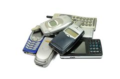 Telefones móveis Imagem de Stock Royalty Free