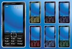 Telefones móveis em cores diferentes Fotos de Stock
