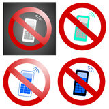 Telefones móveis proibidos Foto de Stock