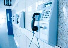 Telefones públicos fotografia de stock