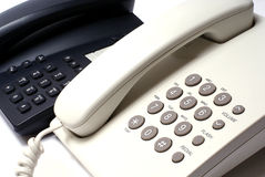 Telefones preto e branco Imagens de Stock Royalty Free