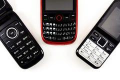 Telefones velhos foto de stock royalty free