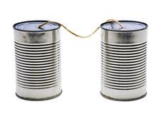 Telefones velhos da lata de estanho Fotos de Stock