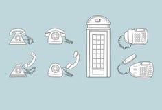 Telefones velhos e novos Imagens de Stock