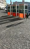 Telefonfahrerhäuser in Turin Lizenzfreies Stockfoto