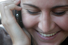 Telefonfrau Lizenzfreie Stockbilder