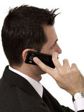 Telefongespräch stockfoto