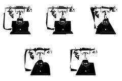 Telefoni di Picasso Immagini Stock Libere da Diritti