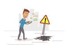 Telefoni di problemi Immagine Stock