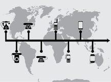 Telefoni di progresso di evoluzione Fotografia Stock Libera da Diritti