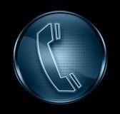 Telefoni l'icona blu scuro. Immagine Stock Libera da Diritti