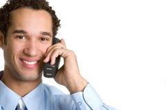 Telefoni l'uomo Immagine Stock Libera da Diritti