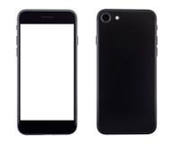Telefoni la vista della parte e della parte anteriore isolata su bianco Immagine Stock Libera da Diritti
