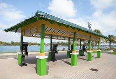 Telefoni pubblici a Nassau fotografia stock