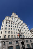 Telefonica Building in Madrid Royalty Free Stock Images
