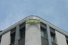 Telefonica byggnad Arkivbilder