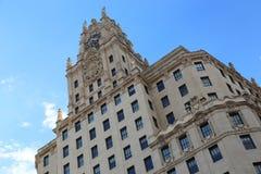 Telefonica byggnad, Madrid Arkivfoto