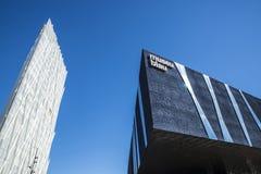 Telefonica Headquarters in Barcelona Stock Image