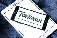 Telefonica mobile operator logo Royalty Free Stock Photo