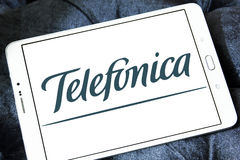 Telefonica mobile operator logo Royalty Free Stock Images