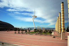 The Telefonica Tower of Montjuic Stock Photo